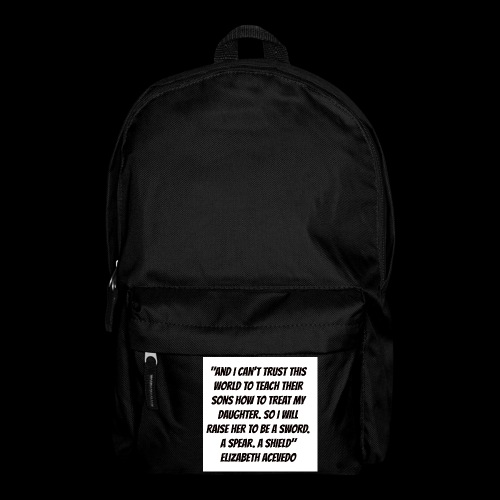 Quote by Elizabeth Acevedo - Backpack