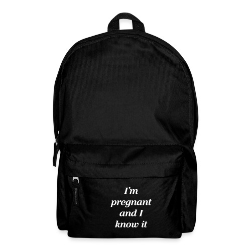 I'm pregnant and I know it - Rucksack