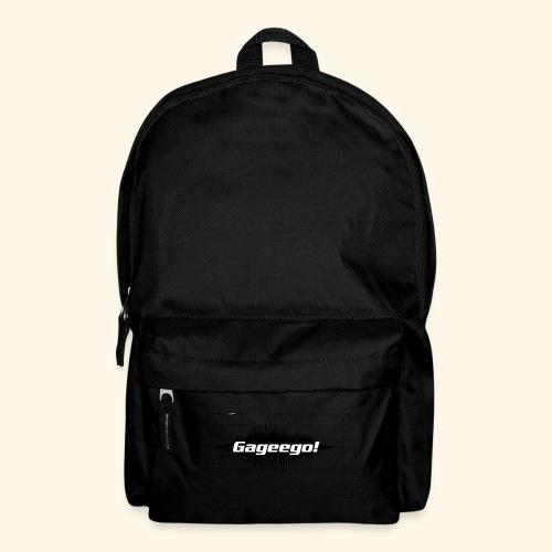 Gageego logga vit text - Ryggsäck