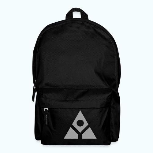 Sacred geometry gray pyramid circle in balance - Backpack