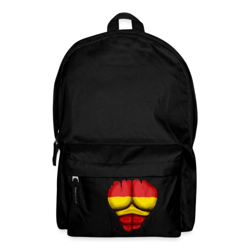 España Flag Ripped Muscles six pack chest t-shirt - Backpack