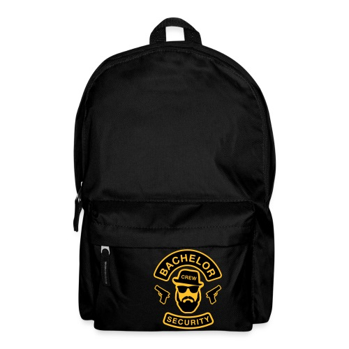 Bachelor Security - JGA T-Shirt - Bräutigam Shirt - Rucksack