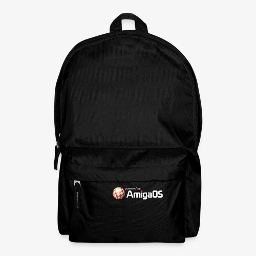 PoweredByAmigaOS white - Backpack