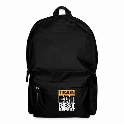 Train, Eat, Rest, Repeat - Training T-Shirt - Rucksack