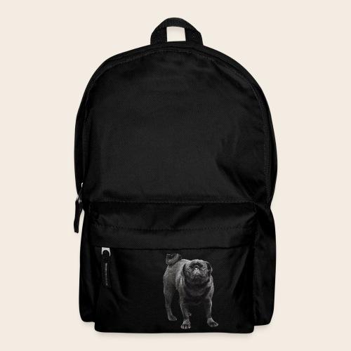 schwarzer Mops - Rucksack
