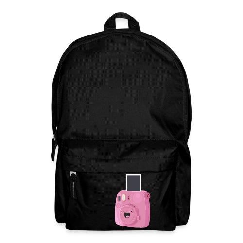 Appareil photo instantané rose - Sac à dos