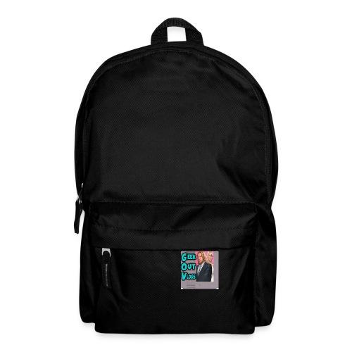 GeekOut Vlogs NES logo - Backpack