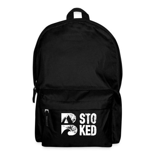 bstoked logo white - Backpack