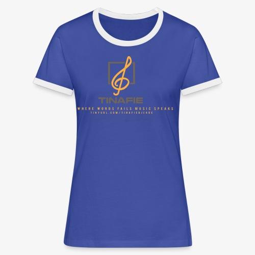 Where Words fails Music speaks!!! - Dame kontrast-T-shirt