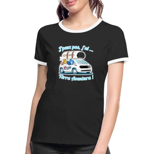 JpeuxPasJai_terra - T-shirt contrasté Femme