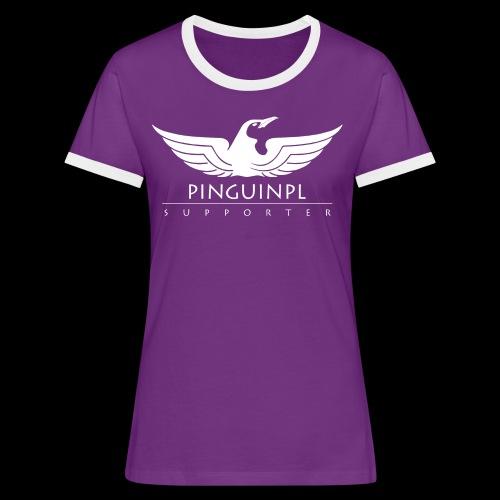 zwolennikiem Whiteline - Koszulka damska z kontrastowymi wstawkami