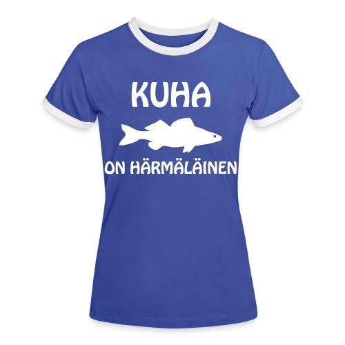KUHA ON HÄRMÄLÄINEN - Naisten kontrastipaita