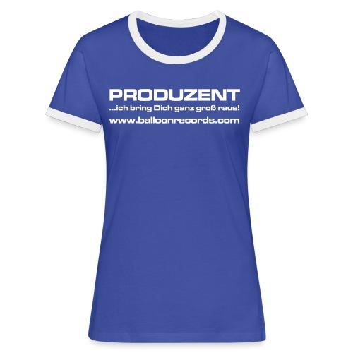 Produzent - Frauen Kontrast-T-Shirt