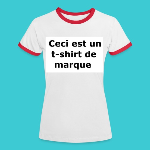 t-shirt2 - T-shirt contrasté Femme
