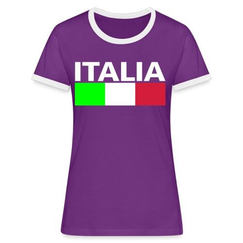 Italia Italy flag - Women's Ringer T-Shirt