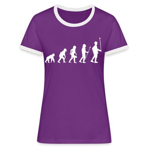 Evolution Stabführer weiß - Frauen Kontrast-T-Shirt