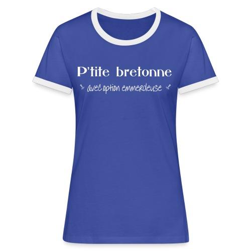 p'tite bretonne - T-shirt contrasté Femme