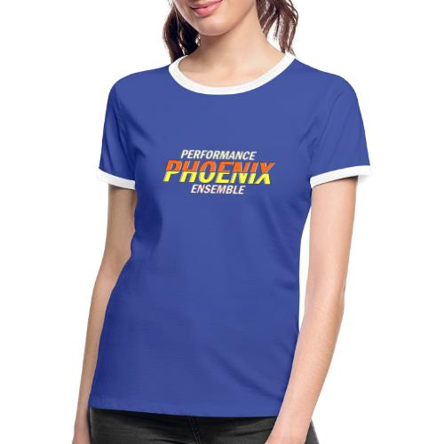 Phoenix Distorted Yellow - Frauen Kontrast-T-Shirt