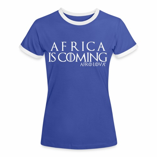 africa is coming blanc - T-shirt contrasté Femme