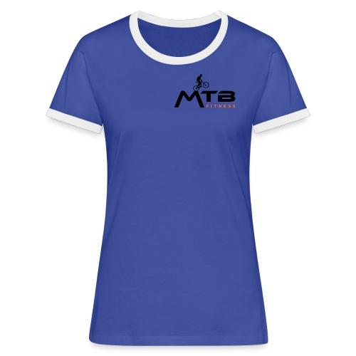 Subtle MTB Fitness - Black Logo - Women's Ringer T-Shirt
