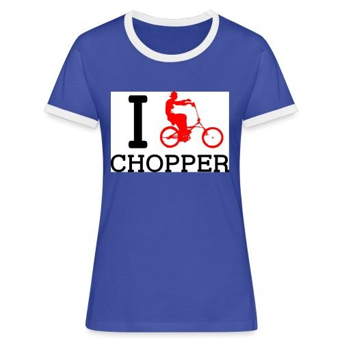 ichopper - T-shirt contrasté Femme