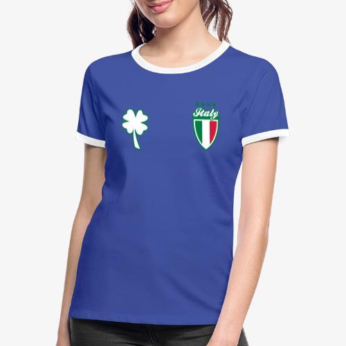 Italia Scudo e trifoglio - Maglietta Contrast da donna