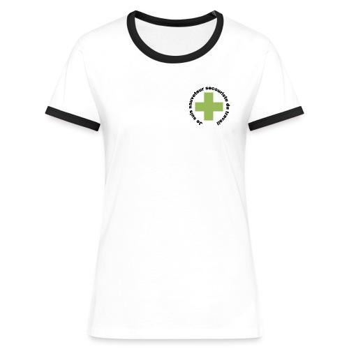 Logo secouriste - T-shirt contrasté Femme