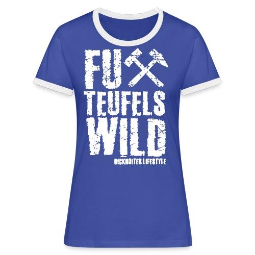 FuXteufelswild - Frauen Kontrast-T-Shirt