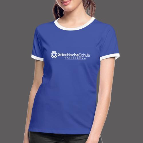 Griechische Schule Vaihingen e.V. - Frauen Kontrast-T-Shirt