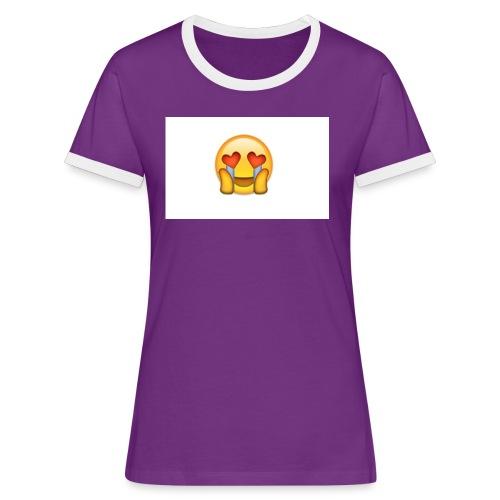 Emoij Hoesje - Vrouwen contrastshirt