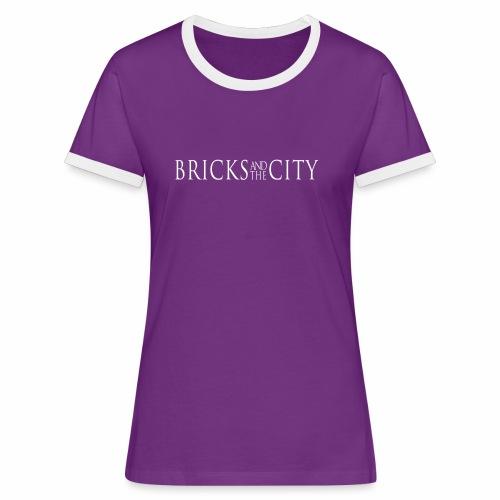 Bricks and the City (Whitestyle) - Maglietta Contrast da donna