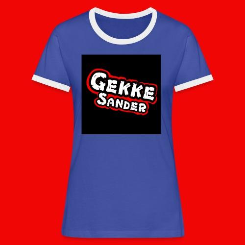 GekkeSander Logo - Vrouwen contrastshirt