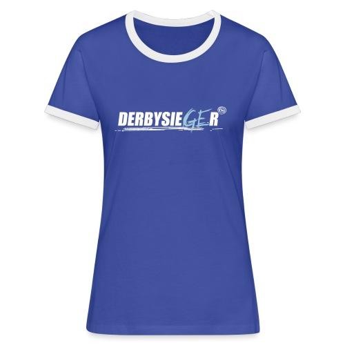 Derbysieger17_2farbig - Frauen Kontrast-T-Shirt