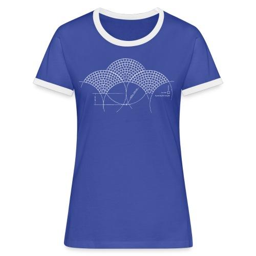 European Fan White - Vrouwen contrastshirt