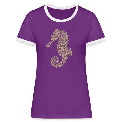 Seepferdchen Spezial - Frauen Kontrast-T-Shirt