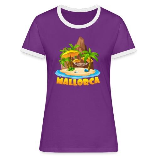 Mallorca - schau wie schön die Insel ist! - Frauen Kontrast-T-Shirt