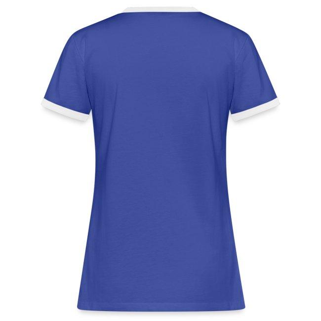 Vorschau: auf die kacke haun - Frauen Kontrast-T-Shirt
