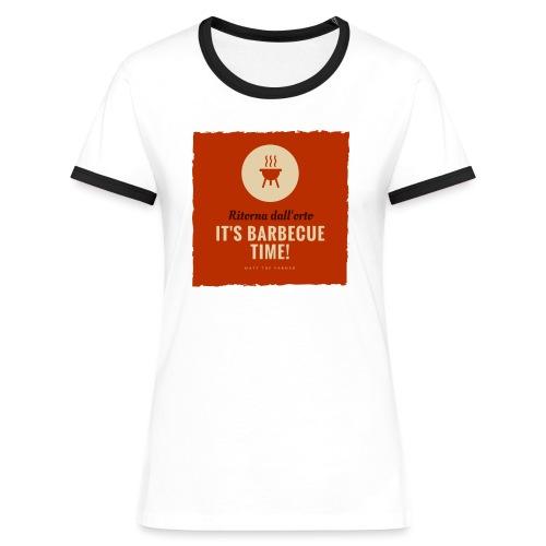 Solo una cosa può farti tornare dall'orto... - Maglietta Contrast da donna