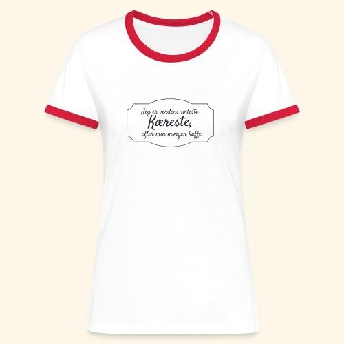 Verdens sødeste kæreste - Dame kontrast-T-shirt