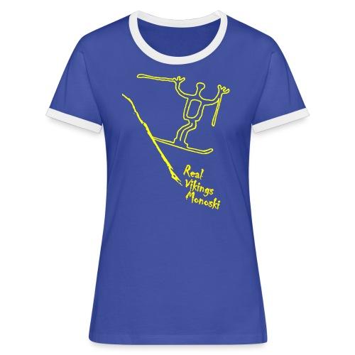 RVM RealVikingsMonoski yellow - Kontrast-T-shirt dam