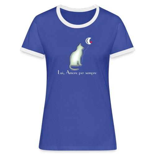 GATTO-E-LUNA - Maglietta Contrast da donna