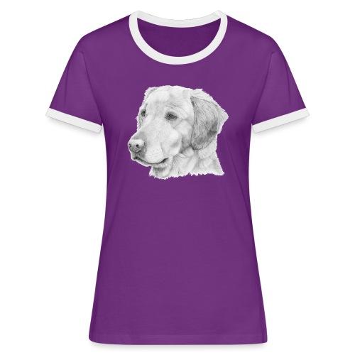 Golden retriever 2 - Dame kontrast-T-shirt