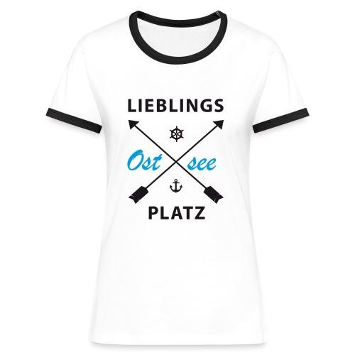 Lieblingsplatz Ostsee - Frauen Kontrast-T-Shirt