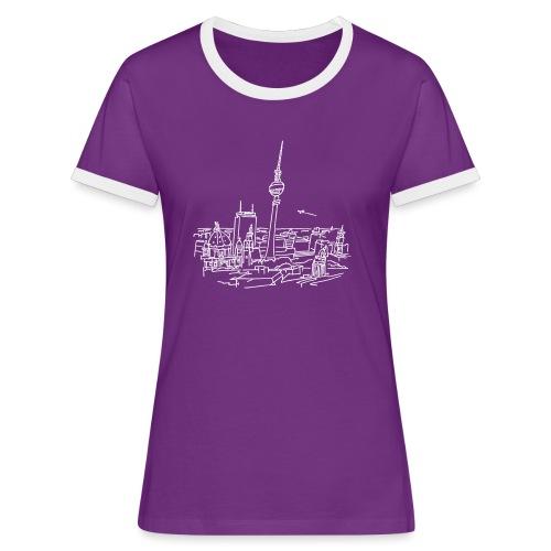 Berlin Panorama - Frauen Kontrast-T-Shirt