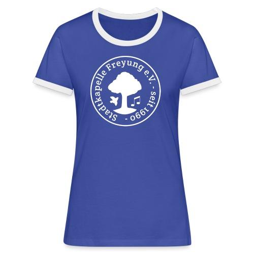 Stadtkapelle Freyung e.V. - Trad. Logo WEIß - Frauen Kontrast-T-Shirt