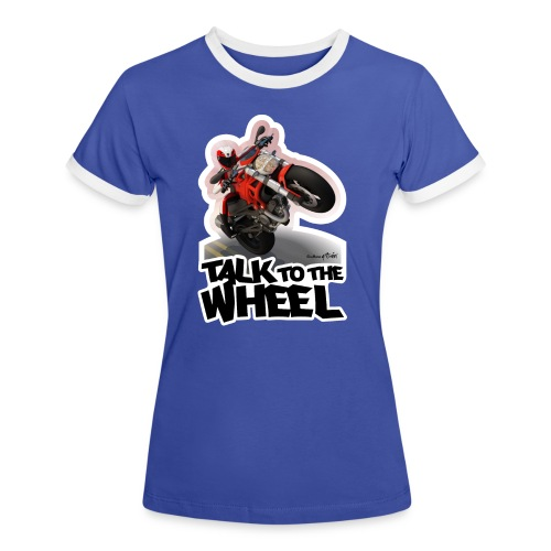 Ducati Monster Wheelie B - Camiseta contraste mujer
