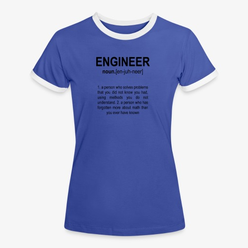 Engineer Def. 2 Black - T-shirt contrasté Femme