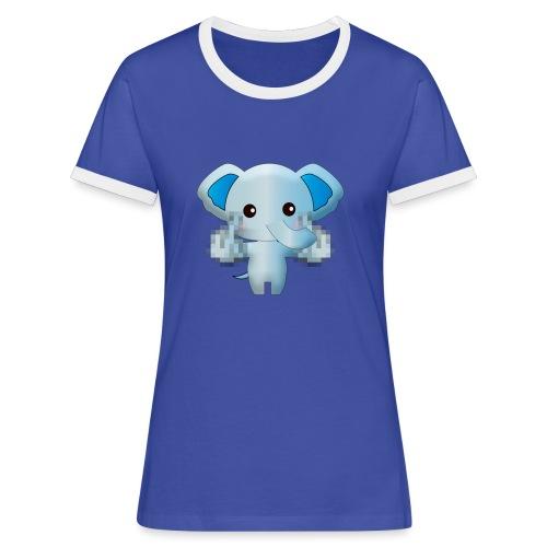 Éléphant F*** - T-shirt contrasté Femme