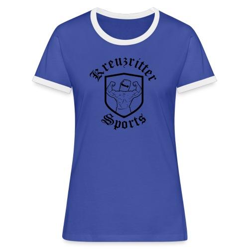 Kreuzritter Sports - Frauen Kontrast-T-Shirt