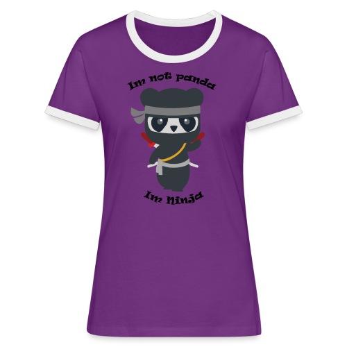 Non sono un Panda - Maglietta Contrast da donna